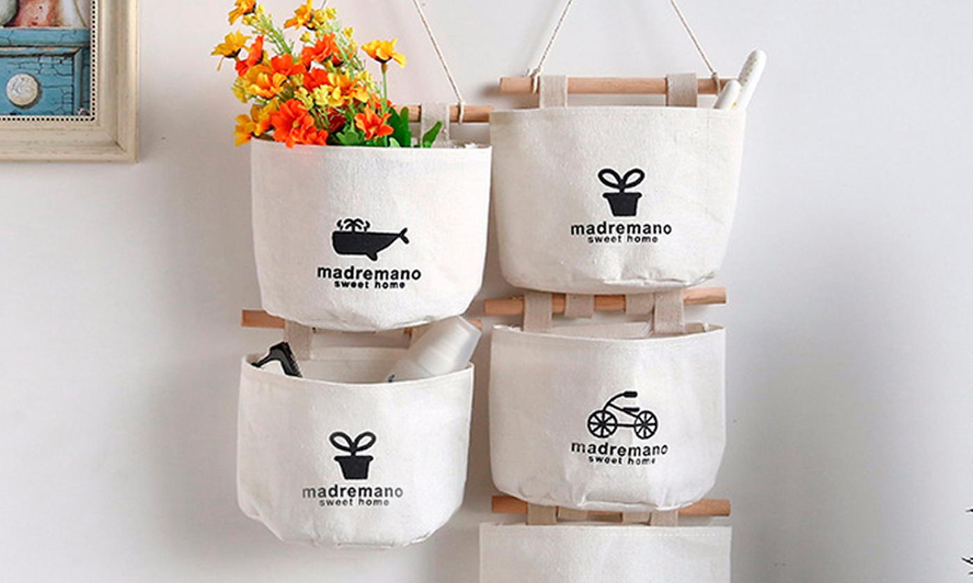 Up to Four Wall-Hanging Storage Bags