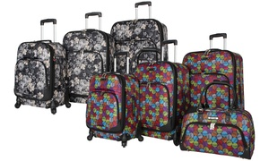 Rosetti Lightweight Expandable Spinner Luggage Set (4-Piece)