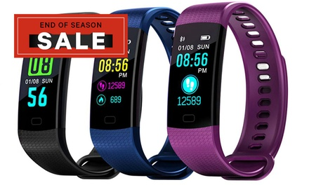 Colour Screen Waterproof Fitness Tracker with Blood Pressure and HR Monitor: One $25 or Two $45