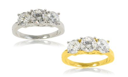 1.50 or 2.00 CTTW Diamond 3-Stone Rings in 10K Gold