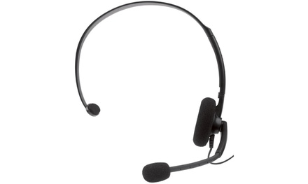 Microsoft Xbox 360 Stereo Headset -Black (Certified Refurbished)
