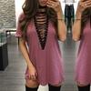 Kleid mit V-Ausschnitt für Damen