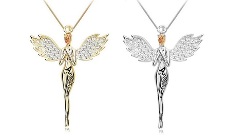 1x Collana Guardian Angel con cristalli: Oro
