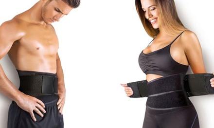 1 o 2 cinturones efecto sauna con soporte para la espalda disponible en 3 tallas diferentes
