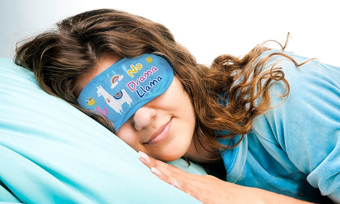 Up To 66% Off Llama-Themed Sleeping Eye Mask | Groupon