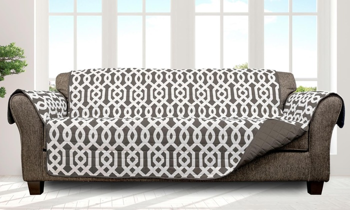 Quick Fit Patterned Quilted Reversible Water Resistant Furniture Protectors Multiple Styles Available