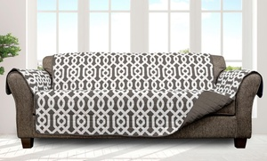 Quick Fit Patterned Quilted Reversible Waterproof Furniture Protectors