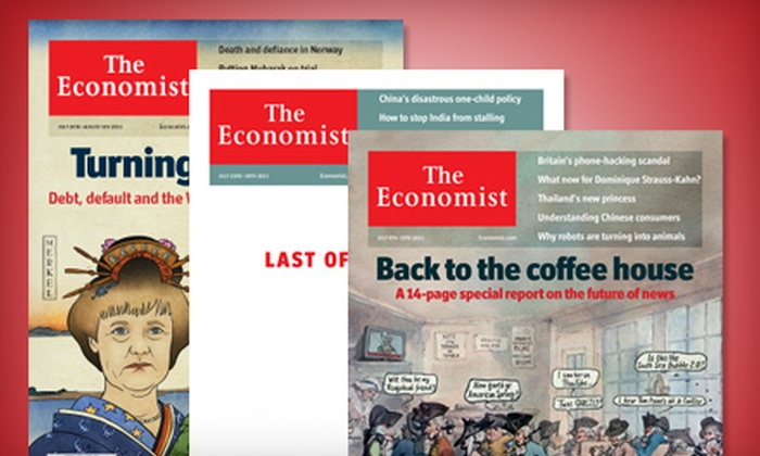 """The Economist"" - Sudbury / North Bay: $79 CAN for 51 Issues of the ""Economist"" ($132 CAN Value)"