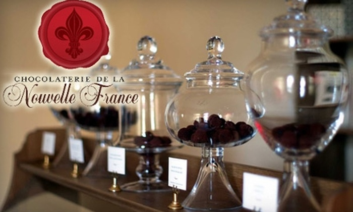 Chocolaterie de la Nouvelle France - Riley Park: $10 for $20 Worth of Fine Chocolates and Confections at Chocolaterie de la Nouvelle France
