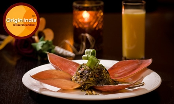 Origin India Restaurant and Bar - Paradise: $10 for $25 Worth of Lunch or $20 for $40 Worth of Dinner and Drinks at Origin India Restaurant and Bar
