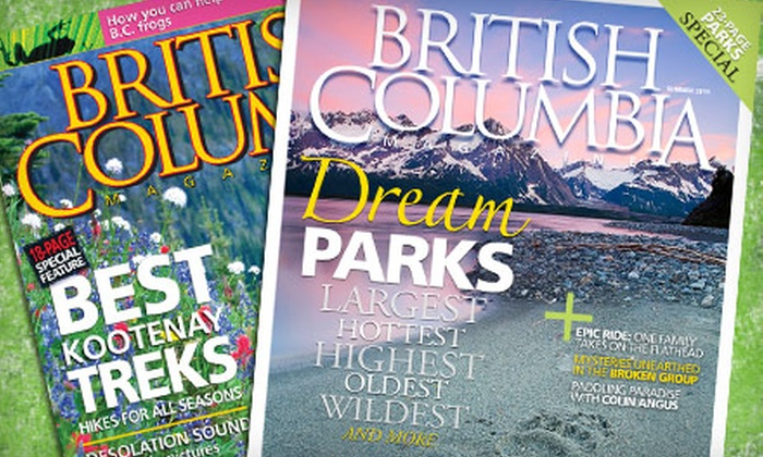 "British Columbia Magazine - Mt. Pleasant: $12 for One-Year Subscription and Calendar from ""British Columbia Magazine"" ($25.95 Value)"