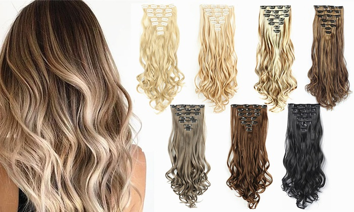 Up To 61% Off Seven-Piece Hair Extensions | Groupon