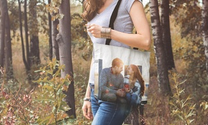Photo Gifts - Shopping bag personalizzate: Fino a 2 shopping bag personalizzate in tessuto ultraresistente con Photo Gifts (sconto 84%)