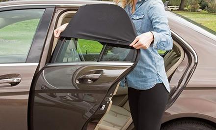 Pare soleil 2 en 1 voiture, protecteur soleil et moustiquaire ( fixe même fenêtre baissée)