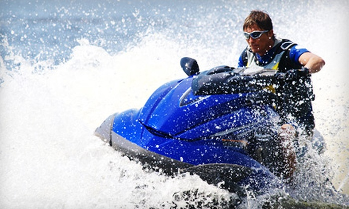 Mid Island Water Sports - Multiple Locations: $49 for a One-Hour Waverunner Rental from Mid Island Water Sports ($99 Value)