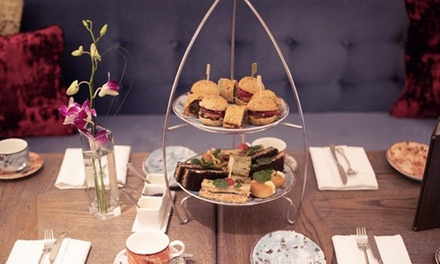 Afternoon Tea and Leisure Access with Optional Fizz for Two or Four at Hilton Hotel Glasgow (Up to 53% Off)