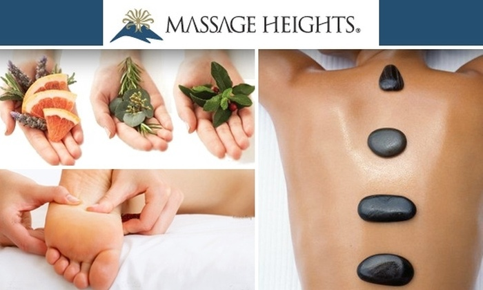 Massage Heights - Val Vista Lakes: $99 for a Hot-Stone Massage Package, Including Massage, Hot-Stone Therapy, Foot scrub, and Cold-Stone Face Massage at Massage Heights ($220 Value)