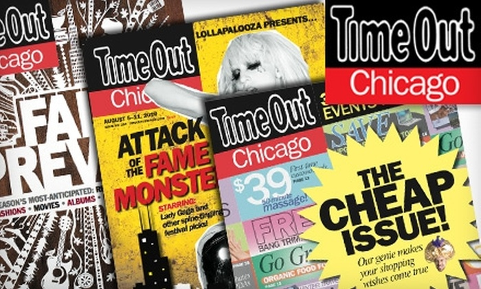 "<i>Time Out Chicago</i> - Chicago: $8 for a One-Year Subscription (51 Issues) to ""Time Out Chicago"" Magazine ($19.99 Value)"