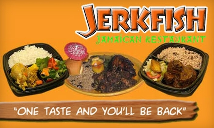 JerkFish Jamaican Restaurant - Middletown: $8 for $20 Worth of Fresh, Authentic Fare and Drinks at JerkFish Jamaican Restaurant in Middletown