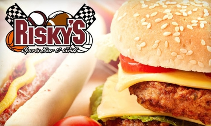 Risky's Sports Bar & Grill - University Place: $7 for $15 Worth of American Fare and Drinks at Risky's Sports Bar & Grill