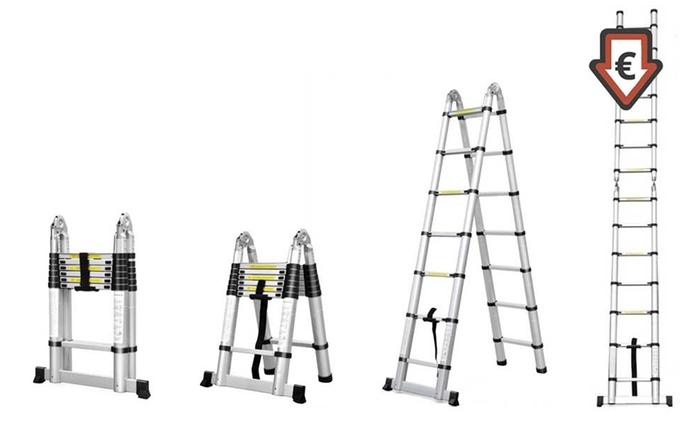 Echelle télescopique avec hauteur modulable, taille au choix, dès 54,90 €, livraison offerte (jusqu'à 54% de réduction)