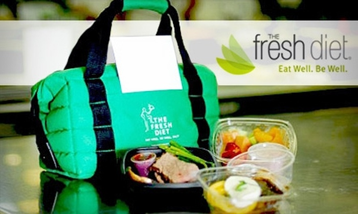 The Fresh Diet: $29 for One Day of Three Fresh, Healthy Meals Plus Two Snacks from The Fresh Diet ($59.99 Value)