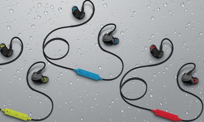 Merkury bluetooth earbuds groupon goods merkury innovations link wireless sweat proof earbuds with microphone fandeluxe Images