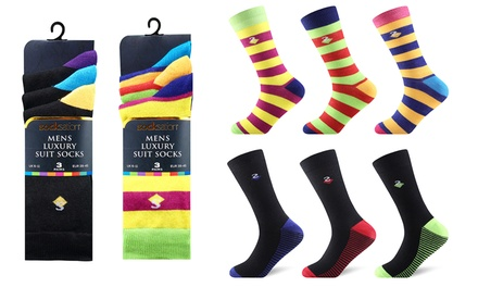 Three, Six or Nine Pairs of Men's Luxury Suit Socks