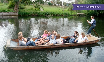 45-Minute Chauffeur-Guided Cambridge Punting Shared Tour for One, Two or Four by Let's Go Punting