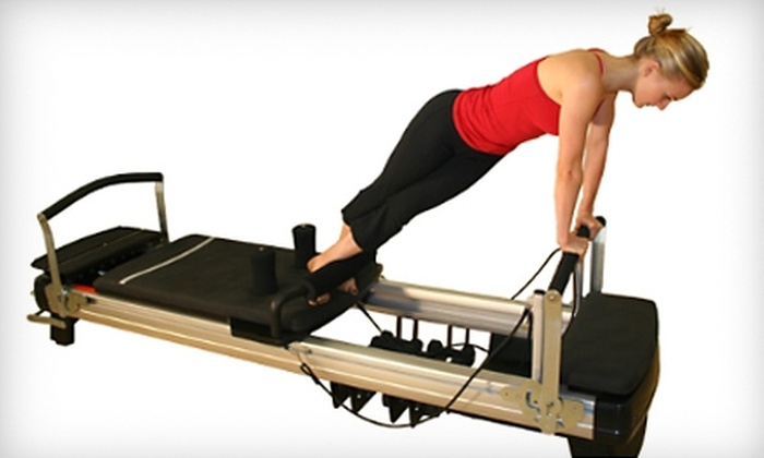 Pilates Plus - Multiple Locations: $49 for Five Group Classes at Pilates Plus ($150 Value). Three Locations Available.