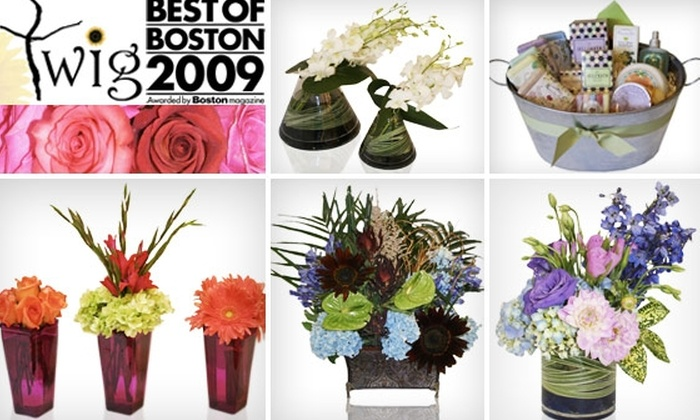 Twig - South End: $85 for Three Bouquet Deliveries from Twig ($258 Value)