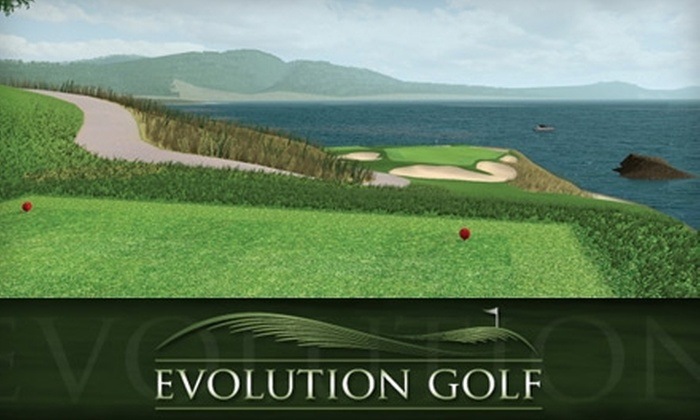 Evolution Golf - Blue Quill: $20 for One Hour of Simulated Golf for Up to Four People at Evolution Golf