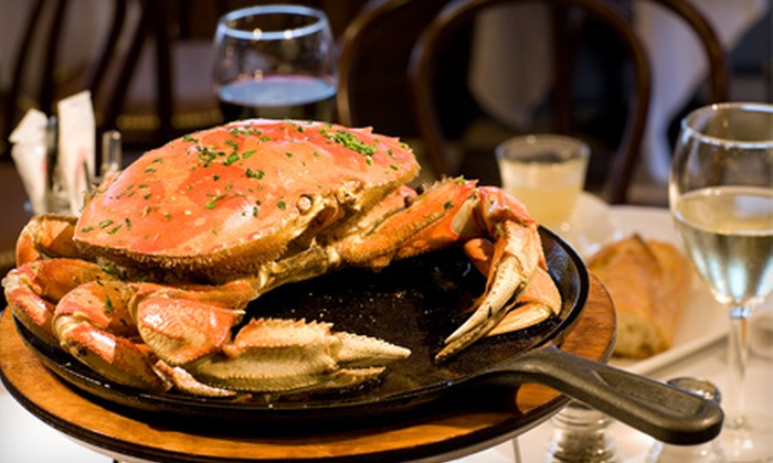 The Old Clam House - Bayview: $17 for Crab or Prime Rib Entrée at The Old Clam House ($34.95 Value)