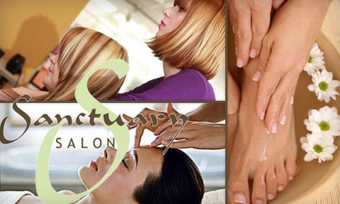 Sanctuary Salon - Santa Clara: $25 for $50 Worth of Rejuvenating Salon and Spa Services at Sanctuary Salon