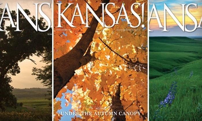 "KANSAS! Magazine: $9 for a One-Year Subscription to ""Kansas!"" Magazine ($18 Value)"