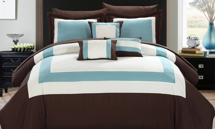 Up To 79 Off On 10pc Bed In A Bag Comforter Sets Groupon Goods