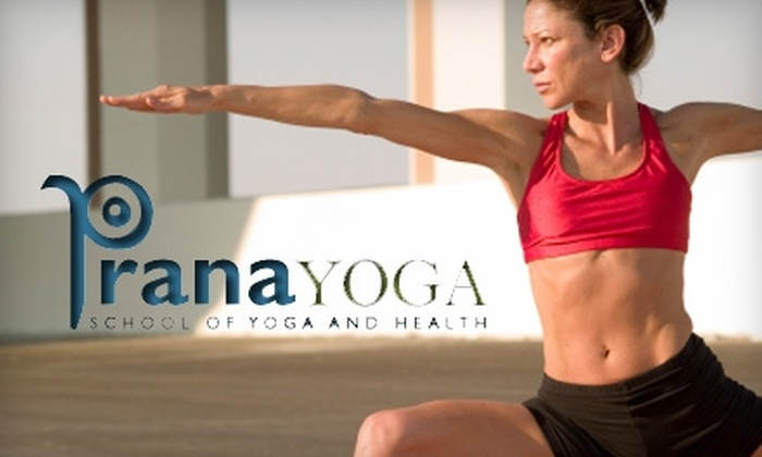 PranaYoga - Multiple Locations: $15 For 10 Consecutive Days of Yoga Classes at PranaYoga Plus an Instructional Home Practice CD