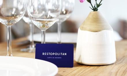 Hazte socio anual de Restopolitan y disfruta de beneficios sin límites en más de 3500 restaurantes desde 19,95 €