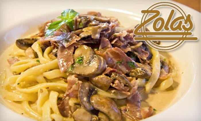 Zola's Restaurant - Bells Corners West: $20 for $40 Worth of Italian Fare and Drinks at Zola's Restaurant