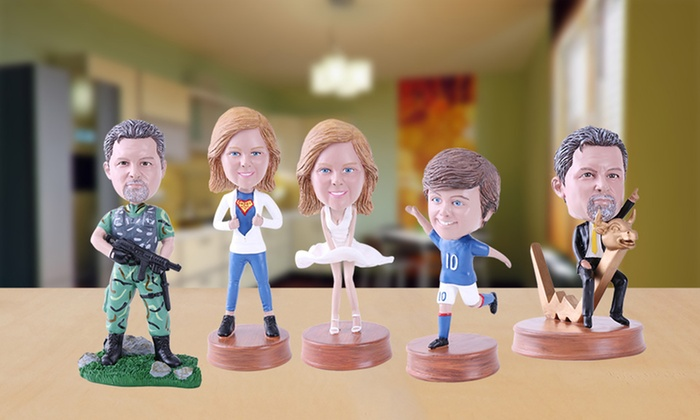 Couple or Single Customized Bobbleheads from YesBobbleheads.com
