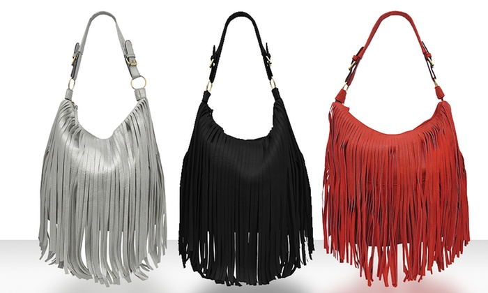 Fringed Hobo Bag: Fringed Hobo Bag. Multiple Colors Available. Free Shipping and Returns.