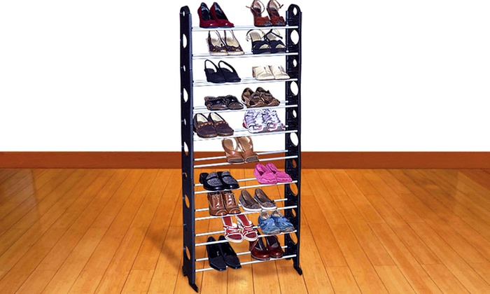 30 Pair Shoe Rack Groupon Goods
