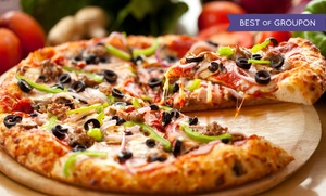 Buck's Pizza:  One or Two Groupons, Each Good for Two Large Two-Topping Pizzas at Buck's Pizza (Up to 52% Off)