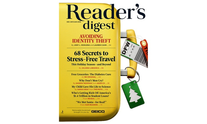 reader's digest - up to 64% off | groupon