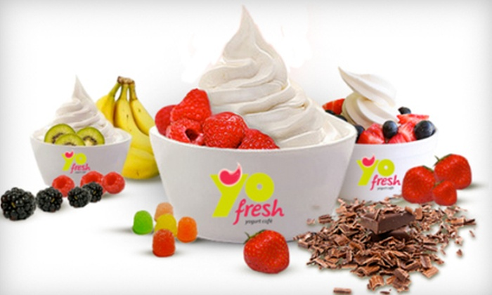 YoFresh Frozen Yogurt - Newtonville: Three $8 Vouchers for Frozen Yogurt, Flavored Hot Cocoa, and More at YoFresh Frozen Yogurt
