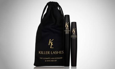 Duo Lash Extender Résistant à leau et Mascara Noir Killer Lashes pour maximiser leffet dextension des cils