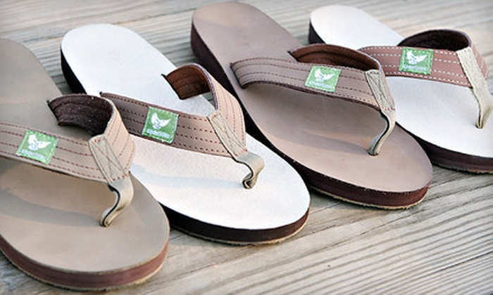 Eco-Friendly Men's or Women's Flip-Flops: Kinder Soles Eco-Friendly Flip-Flops for Men or Women (Up to Half Off). Shipping Included.