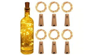 6 ou 12 guirlandes lumineuses pour bouteille de vin