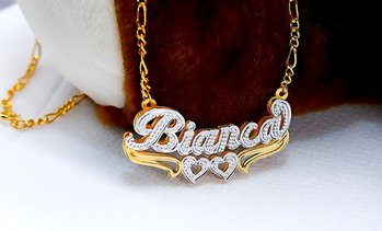 Up to 70% Off Personalized Heart Necklace from MonogramHub