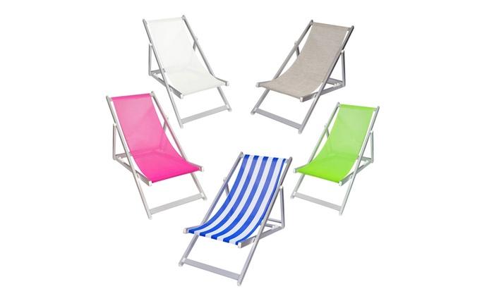 Chaise AluminiumGroupon Longue Jardin Shopping De HD2eWE9IY